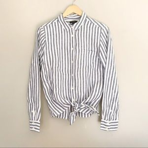 J.Crew • Knotted Linen Button Down Shirt